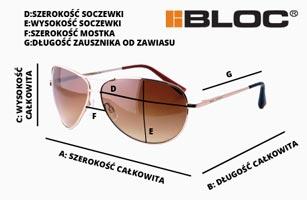 wymiary okularów przeciwsłonecznych BLOC