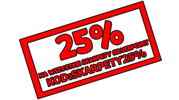 Rabat 25% na wszystkie skarpety Silverpoint