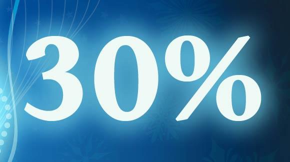 Przeceny 30% już w święta.
